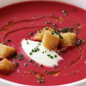 Sopa de betabel